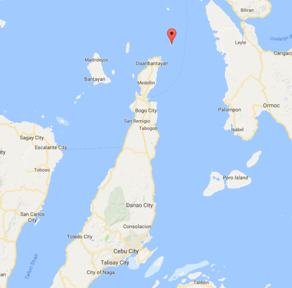 Location of Malapascua Island